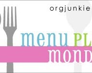 Menu Plan Monday….