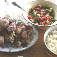 Greek night at our house….
