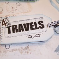 a travel scrapbook…