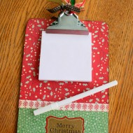 Organizing for Christmas~Project 1: Make A Fun Clipboard for Lists or Photos…