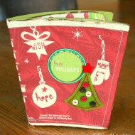 Recycled Starbucks Coffee Cup Christmas Scrapbook