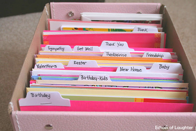 Organizing Greeting Cards