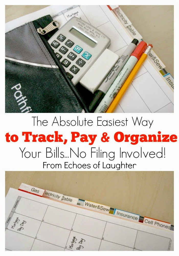 the absolute easiest way to track pay organize your household