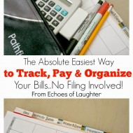 The Absolute Easiest Way To Track, Pay & Organize Your Household Bills…No Filing Involved!