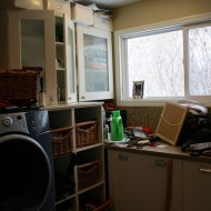Organizing a Laundry/Office Space for a Busy Mom of 4…