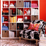 Colour Blocking A Bookcase….