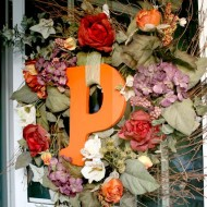 A Monogram Wreath for Fall