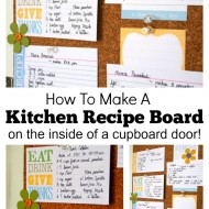 How To Make A Kitchen Recipe Board