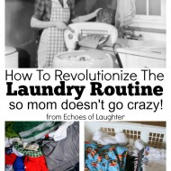 How To Revolutionize The Laundry Routine So Mom Doesn't Go Crazy!