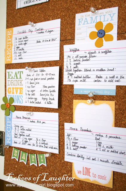 How To Make A Kitchen Recipe Board - Echoes of Laughter