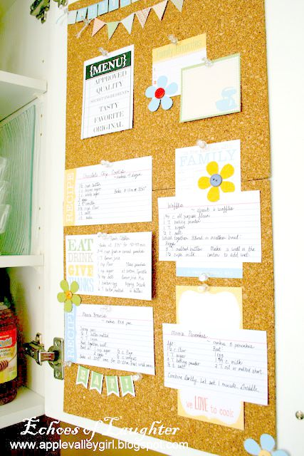 kitchen recipe board