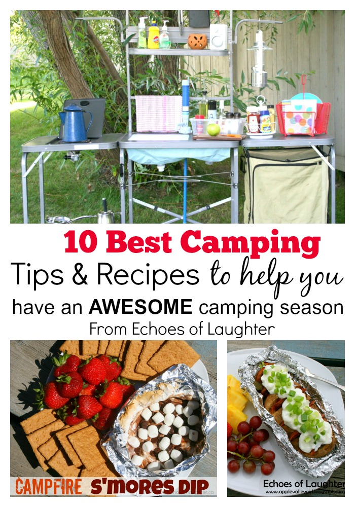 Camping Tips & Recipes Collage