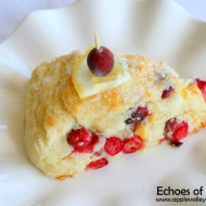 Lemon Chip &  Sweet Cranberry Scones