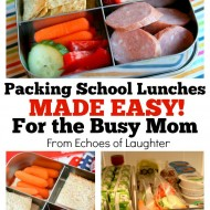 Packing School Lunches Made Easy
