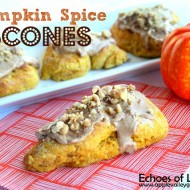 Pumpkin Scones with Maple Cinnamon Frosting