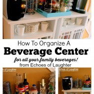 How To Organize A Beverage Center