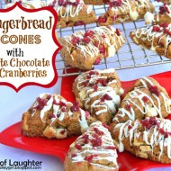 Gingerbread Scones with White Chocolate & Cranberries