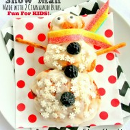 Snowman Cinnamon Bun {Kids' Project}