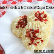 White Chocolate & Cranberry Sugar Cookies