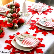 A Red & White Christmas Table…