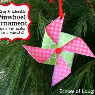 Easy Pinwheel Ornament