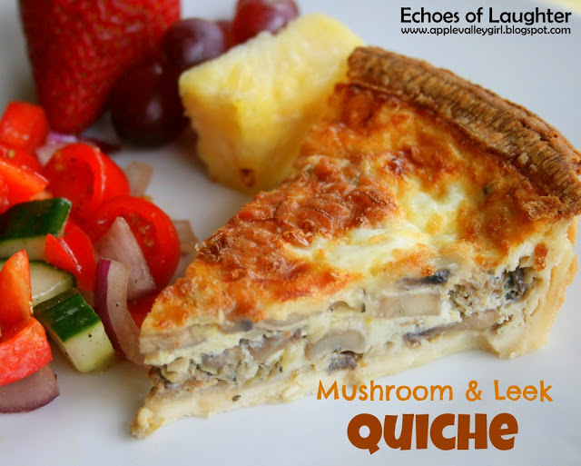 Delicious Mushroom & Leek Quiche - Echoes of Laughter
