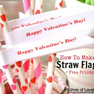 How To Make Valentine's Straw Flags + Free Printable