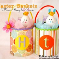 Easter Baskets Made From Recycled Cans