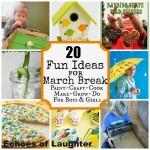 20 FUN Activities For March Break