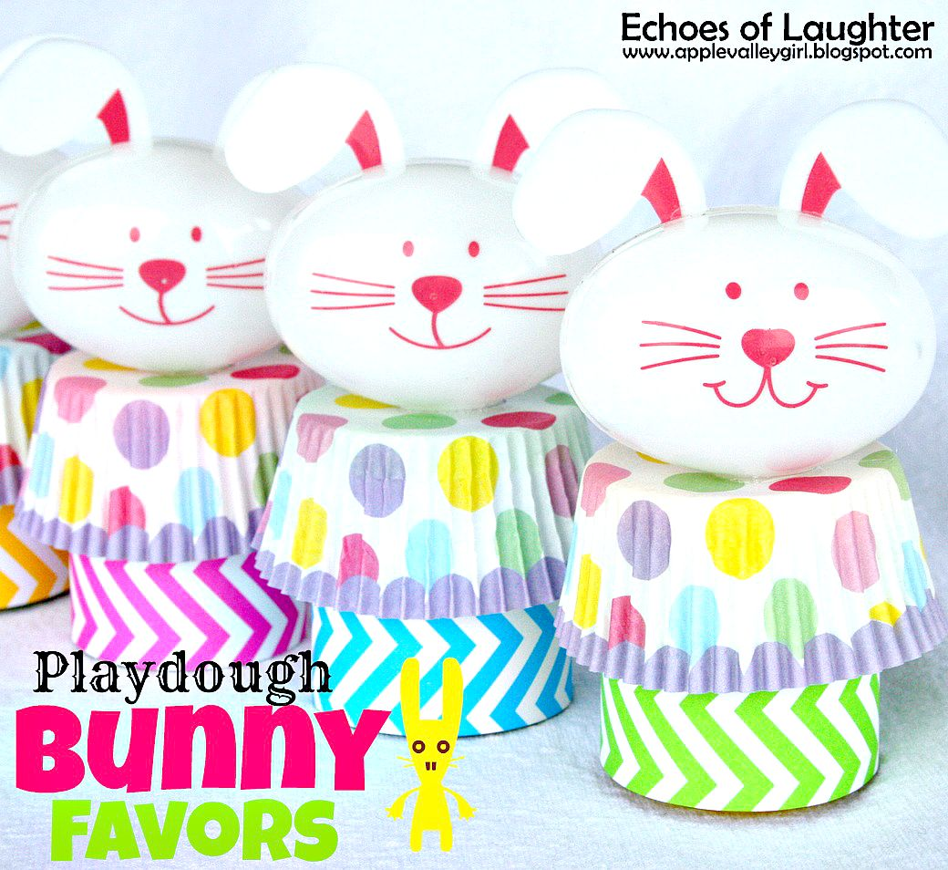 Playdough Bunny Favors