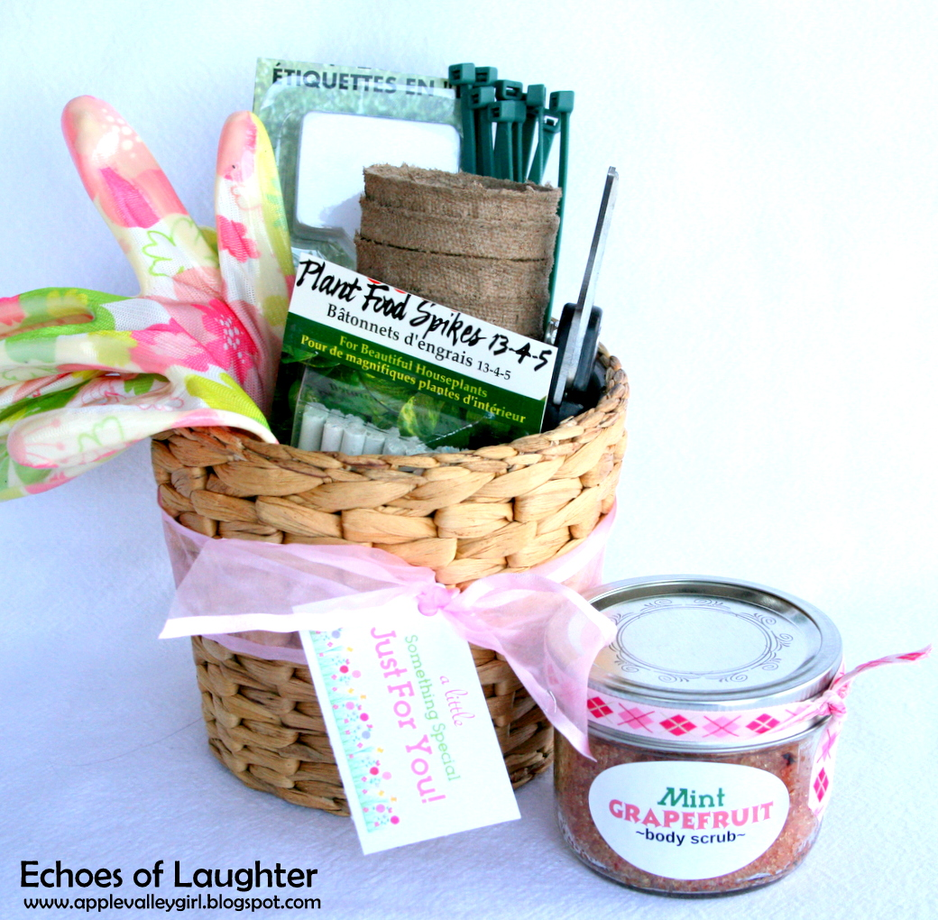 Gardening Gift Basket Free Printable Tag Echoes Of Laughter