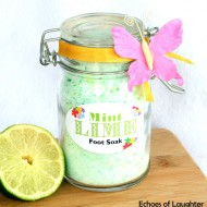 Mint Lime Foot Soak +Free Printable Tag