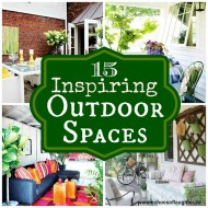 15 Inspiring Outdoor Spaces