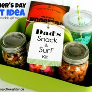 Dad's Snack & Surf Kit +Free Printable Tag
