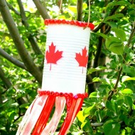 Canada Day Wind Sock Craft