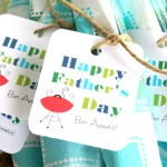 Father's Day Printable Straw Flags, Tags & Bag Toppers