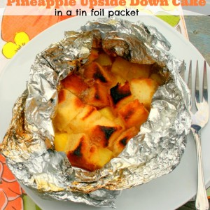 Easy Pineapple Upside Down Cake in Foil Packet
