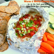Warm & Melty Cheese Dip in Tin Foil