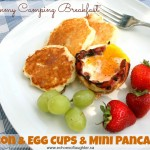 Camping Breakfast: Bacon & Egg Cups with Mini-Pancakes