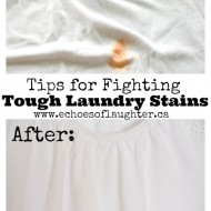 Tips for Dealing with Tough Laundry Stains