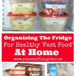 Organizing The Fridge for Healthy 'Fast Food' At Home