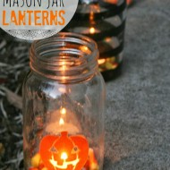 Painted Mason Jar Lanterns