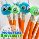 Monsters University Pom Pom Pencils (Craft)