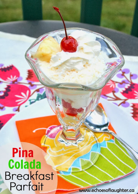 Pina Colada Breakfast Parfait - Echoes of Laughter