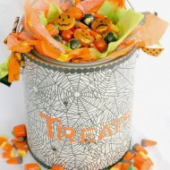 Halloween Treat Bucket {Tutorial}