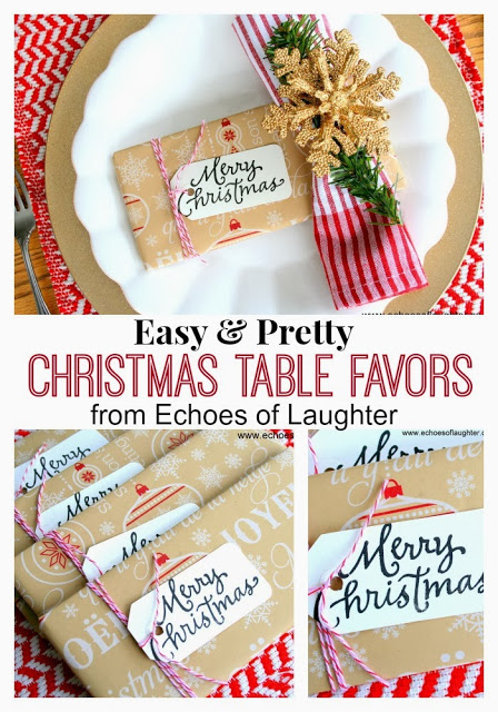 christmas table favours ideas