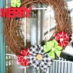 DIY Ribbon Flower Wreath & Wreath Blog Hop!