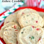 Cherry Slice Icebox Cookies