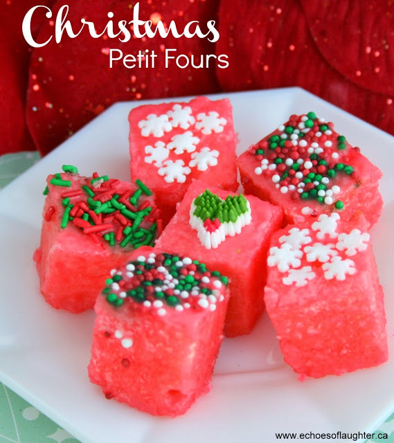 Christmas Petit Fours Echoes Of Laughter