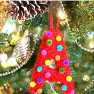 Yarn & Pom Pom Monogram Ornaments